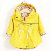Wholesale Casual Trench Coats - Kids Trench Coats Korean Girls Coats Children Trench Coat Girl Dress Kids Hoodies Children Clothes Kids Clothing Fashion Flower Autumn Coat