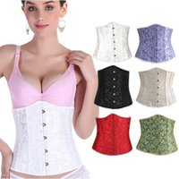 Wholesale Steel Boned Waist Training Corsets and Bustiers Black Corset Underbust Gothic Corselet Sexy Waist Cincher trainer Plus Size