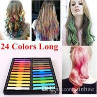 Wholesale Temporary Colors crayons for hair Non toxic Hair color Chalk Dye Pastels Stick DIY styling tools JF B2