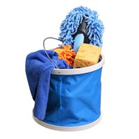 big bucket car wash - 2015 popular Car Washing Oxford Bucket Big Volume Folding Camping Barrel Blue L