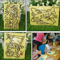sand paper - 1 Pack Children Kids Drawing Toys Sand Painting Pictures Kid DIY Crafts Education Toy Pattern Random