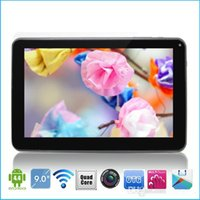Wholesale 9 inch A33 Quad Core Tablet PC Android KitKat M GB GHz with Dual Camera WiFi Bluetooth capacitive touch Pad Allwinner A33 MID