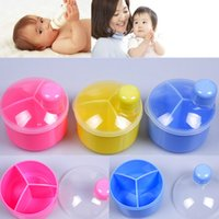 baby savings - Plastic Baby Three Grid Milks Lattice Easy To Carry Savings Milk Powder Dispenser Milking Containers