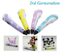 Wholesale 3D Printer Pen for Children Student Present Kids Drawing Tools With Free three dimensional Filament Version