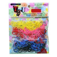 Wholesale Essential High Quality Rubber Hairband Rope Ponytail Holder Elastic Hair Band Ties candy color random color