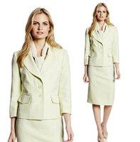 ladies skirt suits - Womens Ladies Fashion Slinky OL Business Skirt Suit Work Suit Long sleeve Work Coat Jacket Skirt