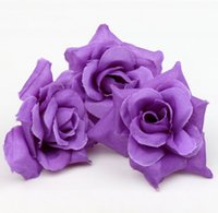 Wholesale Purple Artificial Flower Head Making Flower Balls Tabble Scatters Decoration Craft Wedding Bouquet
