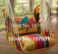 Wholesale 1509 kid and adult gift Swing outdoor Chair Guaranteed canvas indoor cushion garden hanging hanging chair