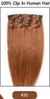 clip in one piece extensions - Clip in human natural top hair extensions set Brazilian virgin remy staight colour one piece on sale Mix Color