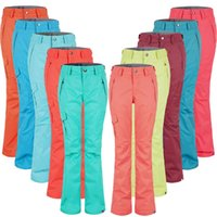 Wholesale Women Ski Pants Ladies Snowboard Pants Snow Clothing Ski Trousers Gsou Snow Windproof Waterproof Breathable thermal Kinds Colors