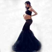 dresses for pregnant women - 2016 New Maternity Photography Props Clothes For Pregnant Women Dress Pregnancy Clothing Photo Portrait The Black Long Culottes