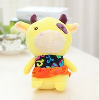 beautiful cute teddy - Hot CM Cute Cattle with Beautiful Clothe Stuffed Plush Kawaii Doll Best Gifts Special Offer SY108B