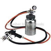 Wholesale 2 Liter Quart Air Paint Spray Paint Gun Tank Pot Gauge Dual Hose Latex qt