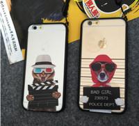 bad dog cartoon - For Iphone Phone Case Bad Dog Cat Motorcycle Dogs Hard silicone PC cartoon Phone Case For iPhone6 Case Fone