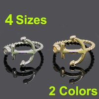 ring size 4 - Newest Fashion Rings in Colors with Sizes Fashion Sideways Nautical Anchor Ring