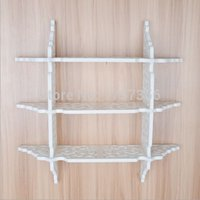 bedroom storage furniture - Green carved multi word separator assembly shelf layers white wall hollow wall shelf shelves small furniture storage racks