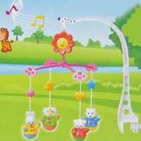 Wholesale Hot Sale Kids Toys Hand Bed Crib Musical Baby Toys Hanging Rotate Bell Ring Rattle Mobile