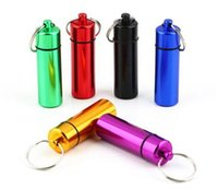 Wholesale Pill holder Container case bottle mm x mm high quality aluminum waterproof wear resisting air tight keychain outdoor