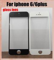 al por mayor iphone reemplazo táctil de cristal-Piezas de repuesto de color de la pantalla táctil delantera lente de cristal externa de reemplazo panel de la pantalla para el iphone iphone 6 6 más tapa frontal a prueba de arañazos SNP007