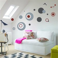 Wholesale Abstract Circles PVC Removable Room Vinyl Decal Art DIY Wall Sticker Home Decor
