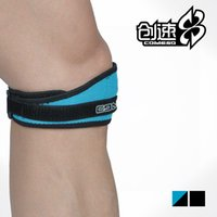 knee brace and support - Reinforced Patella Knee Strap Support Brace With Foam Pads in Blac and Blue HF1622