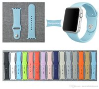 apple watchband - 15 Colors Available in WatchBand For Apple Watch Strap Split Silicone Wrist Band Strap For apple watch mm mm with Adapter Connector