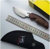 Wholesale Rocky Buck Knives Knifes buck outdoor knife Survival Hiking Hunting Hiking BUCK Elk with Retail box