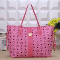 Wholesale hot sell and retail MCM new style bags handbags shoulder bags tote bags color for choose pink