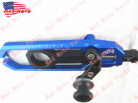 motorcycle chain adjuster - hight quality MAD MOTO motorcycle Chain Adjuster with spool fit for BMW s1000rr blue black color M51831