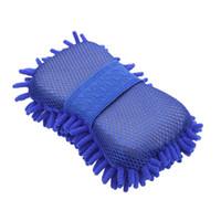 Wholesale 50pcs Microfiber Snow Neil fiber high density car wash mitt car wash gloves towel