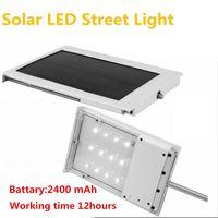 aluminum solar panels - Solar Power LED Street Lamp SMD LED Lamp Corridor Courtyard Yard Garden Outdoor Lighting Solar Panel ABS Aluminum