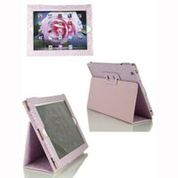 ipads - For Girls iPad Air Case inch Tablet PC Cases iPads Jewel Folded Smart Cover PU Leather Case Focalvalue