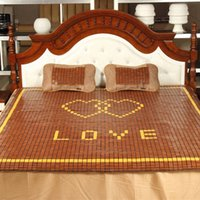 Wholesale Mahjong Mat Carbide Cushion Bamboo mattress pad for Double Bed Cool Refreshing Protectors Mat Fashion Love Design for Sale LX1501