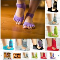 Wholesale Men and Women Professional Yoga Socks Five Fingers Antiskid Backless Five Toe Socks Yoga Sports Socks Fitness order lt no track