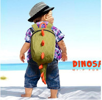 Wholesale 2015 New kids backpack kindergarten girls boys children backpack school bags cartoon animals smaller dinosaurs snacks year fashion