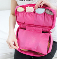 Wholesale Portable Multi functional Underwear Bra Panties Makeup Cosmetic Handbag Organizer Bag Case Storage Pouch For Trip Travel