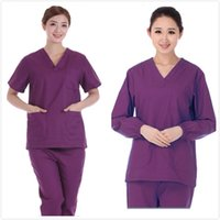 medical scrubs - Medical Uniform Matching Unisex Men Women Comfortable and Breathable Natural Uniforms Medical Hospital Nursing Scrub Set Top and Pants Medic