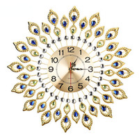 Wholesale Modern Creative Personality Living Room Peacock Quartz Wall Clock European Style Fashion Horloge Murale Decoration