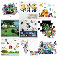 Removable wall decoration wallpaper - Mix Order Removable Cartoon Wall Stickers for Kids Nusery Rooms Decorative Wall Decals Home Decoration Movie Wallpaper Wall Art d Window