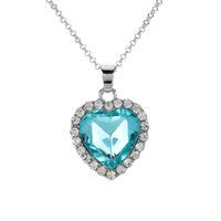 heart of the ocean - Titanic Heart Of The Ocean Crystal Necklace Rhinestone Sea Star Heart Pendant Necklace Chain Jewelry for Girl Woman J0463