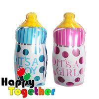 baby bottle manufacturers - Happy Together Manufacturer New Baby Bottle Foil Balloon Boy Girl Unisex Baby Shower Christening Birthday Descriptation