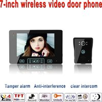 Wholesale 2016 quot LCD Monitor Ghz Wireless video door phone Monitor Camera With IR night version camera outdoor bell