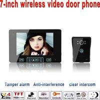 2.4Ghz Wireless video door phone - 2016 quot LCD Monitor Ghz Wireless video door phone Monitor Camera With IR night version camera outdoor bell
