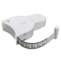 Wholesale Fitness Accurate Body Fat Caliper Measuring Body Tape Ruler Measure Mini Cute Tape Measure White Drop Shipping HG