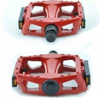 Wholesale NEW pair Aluminum Alloy Bicycle Colorized Bike Cycling Pedals With Anti skid Nails