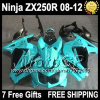 Wholesale 7gifts ZX R Fairing For Kawasaki cyan blk Ninja R G326 ZX250 ZX ZX250R cyan black