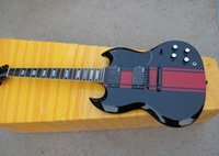 Cheap High Quality Custom SG 400 Red & Black Electric Guitar Black Hardware In Stock Free Shipping