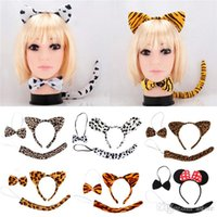 Wholesale Hot Sales Gilrs as a Set Headband Hair Accessories Party Fancy Dress Tools Bow Tie Tail Animal Ears IF1