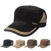 Wholesale Cadet Hats Wholesalers - Hot Sales Unisex Men Women Army Vintage Hats Cadet Military Baseball Ball Caps Cotton Blend Adjustable Classic Plain PX59 Free Shipping