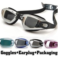 Wholesale New Anti fog Swim Eyewear Anti Ultraviolet Swimming Goggles Men and women Unisex Coating Swimming Glasses Adult Goggles with Earplug